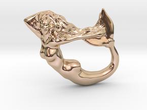 Mermaiden Fair - Mermaid Pendant in 14k Rose Gold Plated Brass