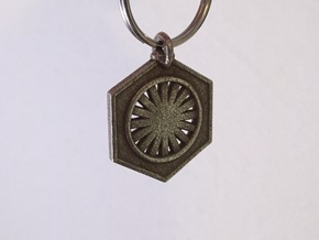 First Order Keychain in Polished Bronzed Silver Steel