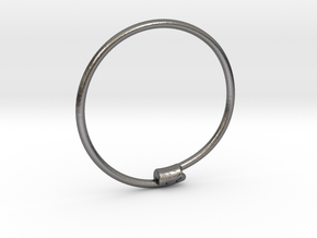 Yaedeura Bangle S 62mm in Polished Nickel Steel