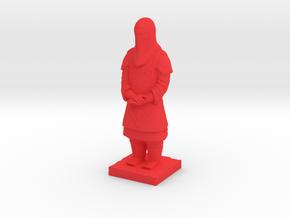Terracotta Guard  in Red Processed Versatile Plastic