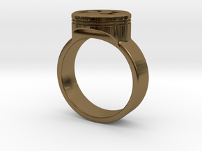 "General Lee ""01"" Driver Ring - Size 22.2mm ID in Polished Bronze"