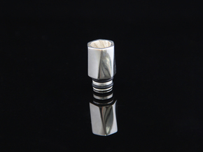 HEX TORQUE Driptip: Stainless Steel in Stainless Steel