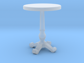 Miniature 1:48 Cafe Table in Smoothest Fine Detail Plastic