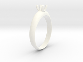 Ø19.70 Mm Diamond Ring Ø4.8 Diamond mm Fit in White Processed Versatile Plastic
