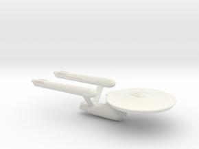 USS Enterprise Miniature 1:5000 in White Strong & Flexible
