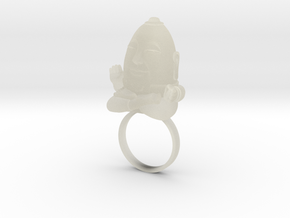 HUMPTY BUDA RING in Transparent Acrylic