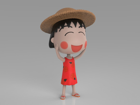 Maruko Chan Summer Dress in Full Color Sandstone