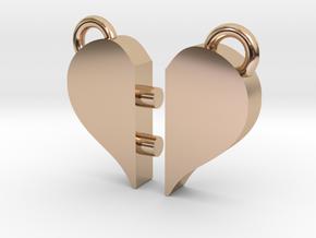 Heart Pendants in 14k Rose Gold