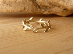 Leaf Band -  Size 5 in 14K Yellow Gold