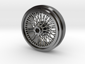 1/8 Wire Wheel Front, with 72 spokes in Fine Detail Polished Silver