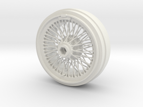1/8 Wire Wheel Front, with 72 spokes in White Strong & Flexible