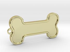 Dog Bone Keychain in 18k Gold