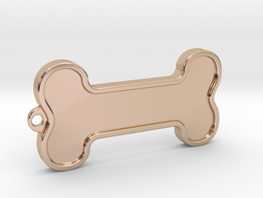 Dog Bone Keychain in 14k Rose Gold Plated Brass
