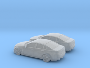 1/160 2X Holden Commodore in Smooth Fine Detail Plastic