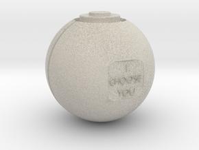 Pokeball - I Choose You in Natural Sandstone