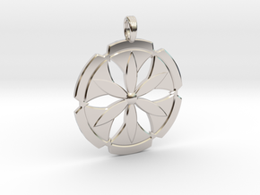 FLOWER POWER in Rhodium Plated Brass