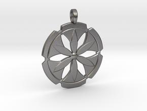FLOWER POWER in Polished Nickel Steel