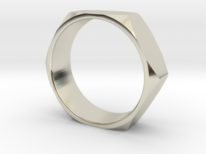 Nut Ring 14 in 14k White Gold