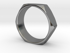 Nut Ring 14 in Fine Detail Polished Silver