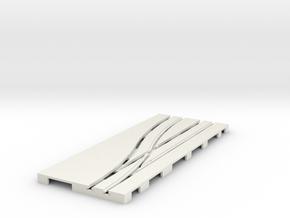 P-65stp-road-left-point-145r-75-pl-1b in White Natural Versatile Plastic