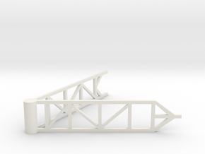 Space Shuttle Hangers in White Natural Versatile Plastic