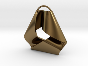 Mobius Triangle Pendant (Large) in Polished Bronze