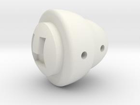 Fj Choke Knob in White Natural Versatile Plastic
