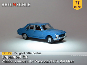 Peugeot 504 (TT 1:120) in Smooth Fine Detail Plastic