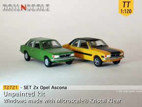 SET 2x Opel Ascona B (TT 1:120) in Smooth Fine Detail Plastic