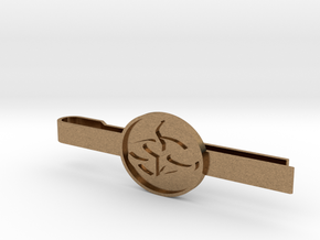 Agent 47 tie clip in Natural Brass