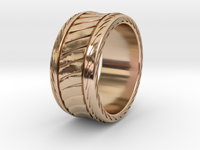 SHREDDER RING1 SIZE 9.5 in 14k Rose Gold Plated Brass
