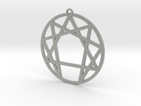 Enneagram Pendant Large (2 inches) in Metallic Plastic