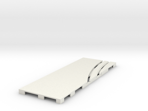 P-65stp-straight-lh-curve-inner-145r-75-pl-1a in White Natural Versatile Plastic