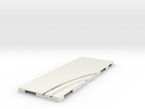 P-65stp-straight-rh-curve-inner-145r-75-pl-1a in White Natural Versatile Plastic