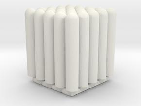Pullerter 25 Stk. 1/87 in White Natural Versatile Plastic