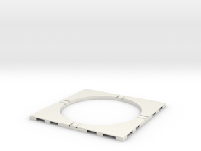 T-65-wagon-turntable-84d-75-corners-flat-1a in White Strong & Flexible