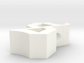 S pendant in White Processed Versatile Plastic