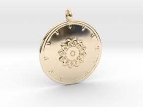 Mandala Pendant  in 14K Yellow Gold