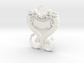 Dragonheart Keychain in White Processed Versatile Plastic