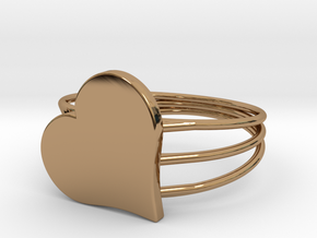 Size 6 Heart For ALL in Polished Brass