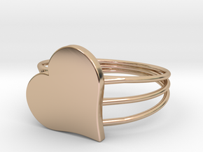 Size 6 Heart For ALL in 14k Rose Gold