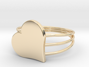 Size 10 Heart For ALL in 14k Gold Plated Brass