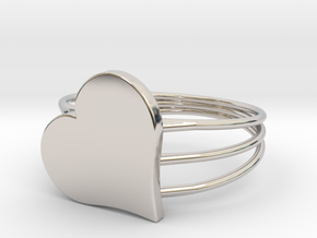 Size 10 Heart For ALL in Platinum