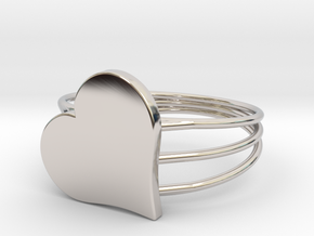 Size 11 Heart For ALL in Platinum