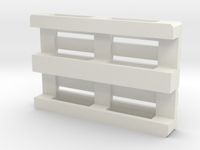 Euro Pallet 1/50 scale in White Natural Versatile Plastic