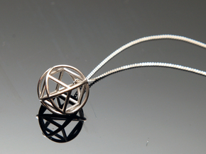 Simple Geometry Pendent in Polished Silver