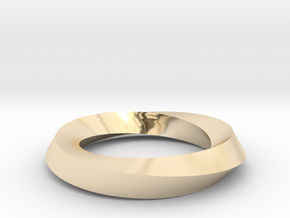 RingSwirl180 in 14k Gold Plated Brass