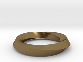 RingSwirl180 in Polished Bronze