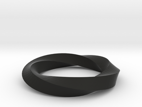 RingSwirl360 in Black Natural Versatile Plastic