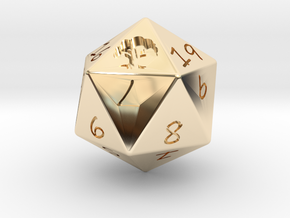 D20 Forest in 14k Gold Plated Brass: Medium
